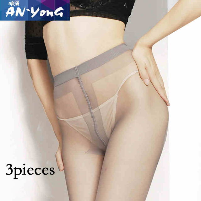 3 pieces Lady's Classical Panty Tights Women's Semi Transparent T Panty Nylon Pantyhose Ultrathin Female Tights