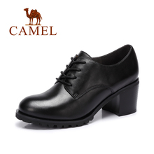 Camel New Women's  Oxford Shoes Genuine Leather Casual Lace-up Women'S Flat Shoes