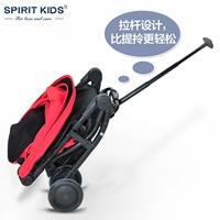 Smart Light Children Umbrella Cart, Portable Baby Travel Car, Folding Baby Stroller Baby Trolley design, 4 Wheel, Can Sit & Lie