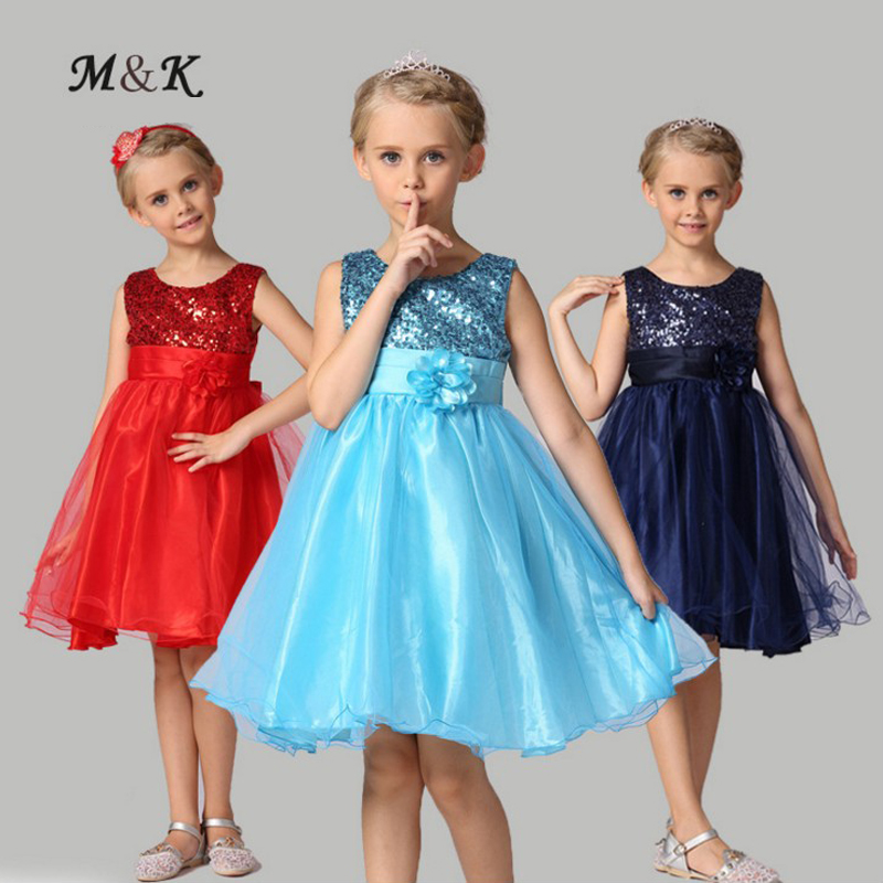 Kids Wedding Summer Party Dresses Flower 3 10 Years Old 10