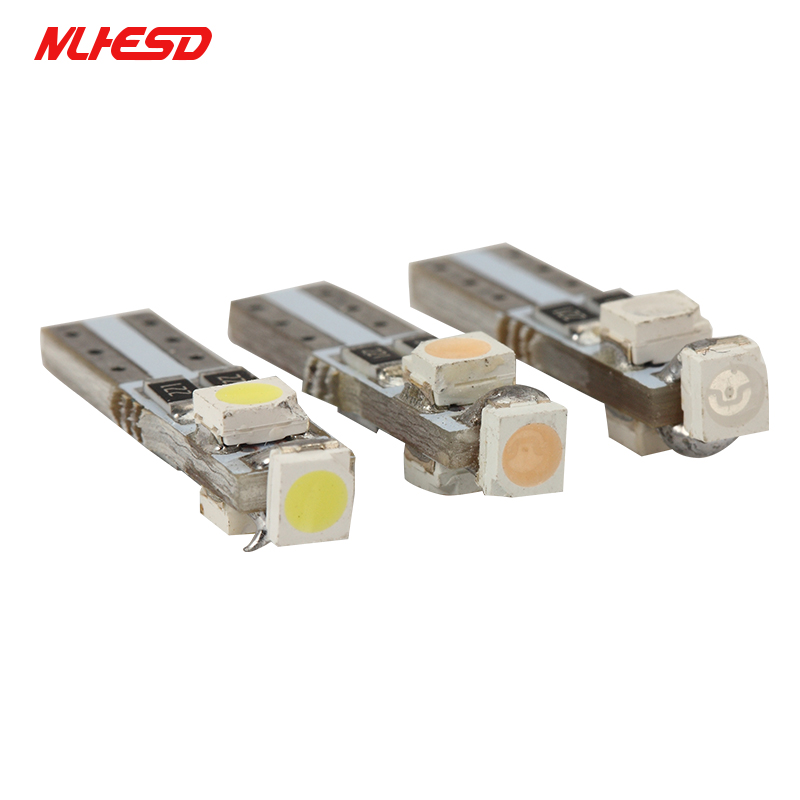 10X Car Auto T5 Gauge Dashboard Wedge Light LED Bulb Indicator 3 Smd 3528 Lamps