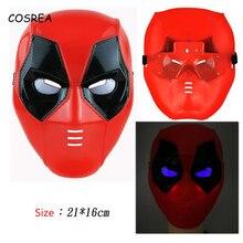 7a729047d9 Deadpool Homem Aranha Hulk Pantera Negra Máscara Facial Máscara Spiderman  Os Vingadores Thor Martelo de Guerra Estrela Cosplay O..