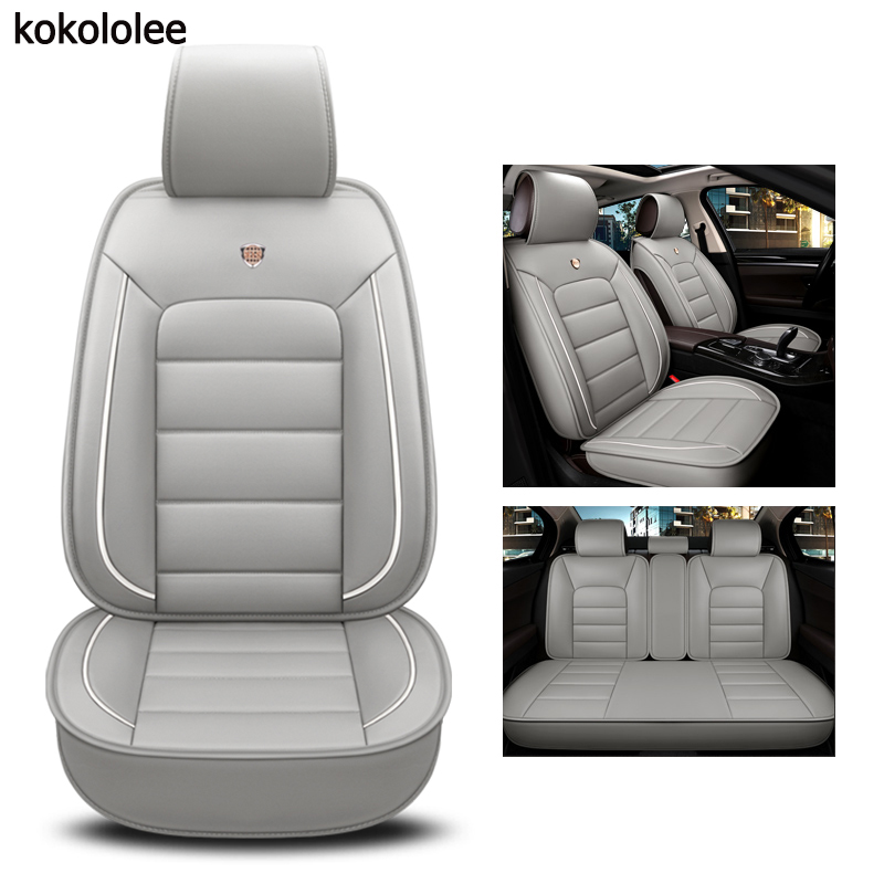 Kokololee pu siège de voiture en cuir couverture Pour kia sportage 3 renault scenic 3 chevrolet spark daewoo matiz voiture style de voiture accessoires