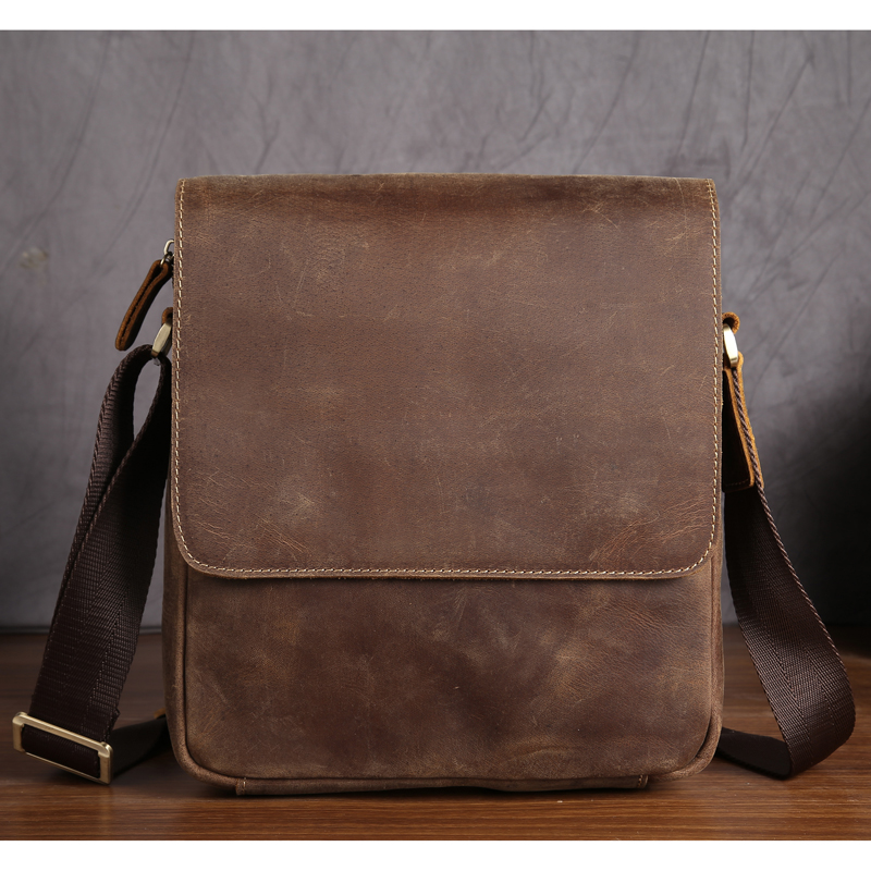 NEWEEKEND Genuine Leather Bag Men Bags Shoulder Crossbody Bags Messenger Small Flap Casual Handbags Male Leather Bag New 3823