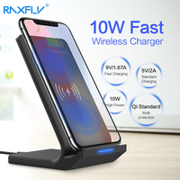 RAXFLY 10W Wireless Charger For IPhone X 8 Plus Samsung Galaxy S8 Plus Note 8 5