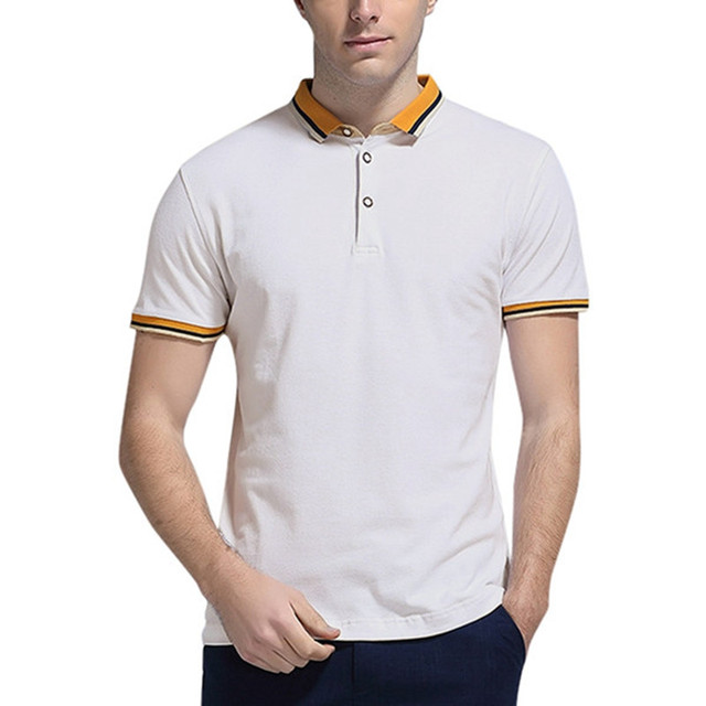 Fashion 2017 Male New Summer Brand Mens Business Short Sleeve Breathable Turn Down Collar Casual Plus Size Polo Shirt Hombre