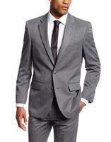 2018 Simple Suits Men Gray Wedding Suits Grooms Tuxedos Mens Suits Slim Fit Beach Groomsmen Suits (Jacket+Pant+ Tie)
