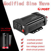 Peak Power Inverter 1500W Solar Inverter DC12V To AC110V Automobile Modified Charger Power Converter Adapter