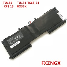 FXZNGX TU131-TS63-74 New Genuine Laptop battery For Dell XPS13 8808 U13S881 TU131-TS63-74 U33X UX32K 7 6v 56wh new original laptop battery for dell xps13 9343 xps13 9350 90v7w jd25g din02 p54g