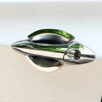 Accesorios del coche deportivo de lujo muñeca puerta tazón mango palo exterior decorativo pasta suave PARA Hyundai Elantra 2012-2016