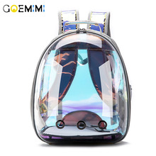 Pet Cats Carrier Backpack Transparent Bag Cat Dog Outdoor Hiking Travel Space Portable Capsule Shaped