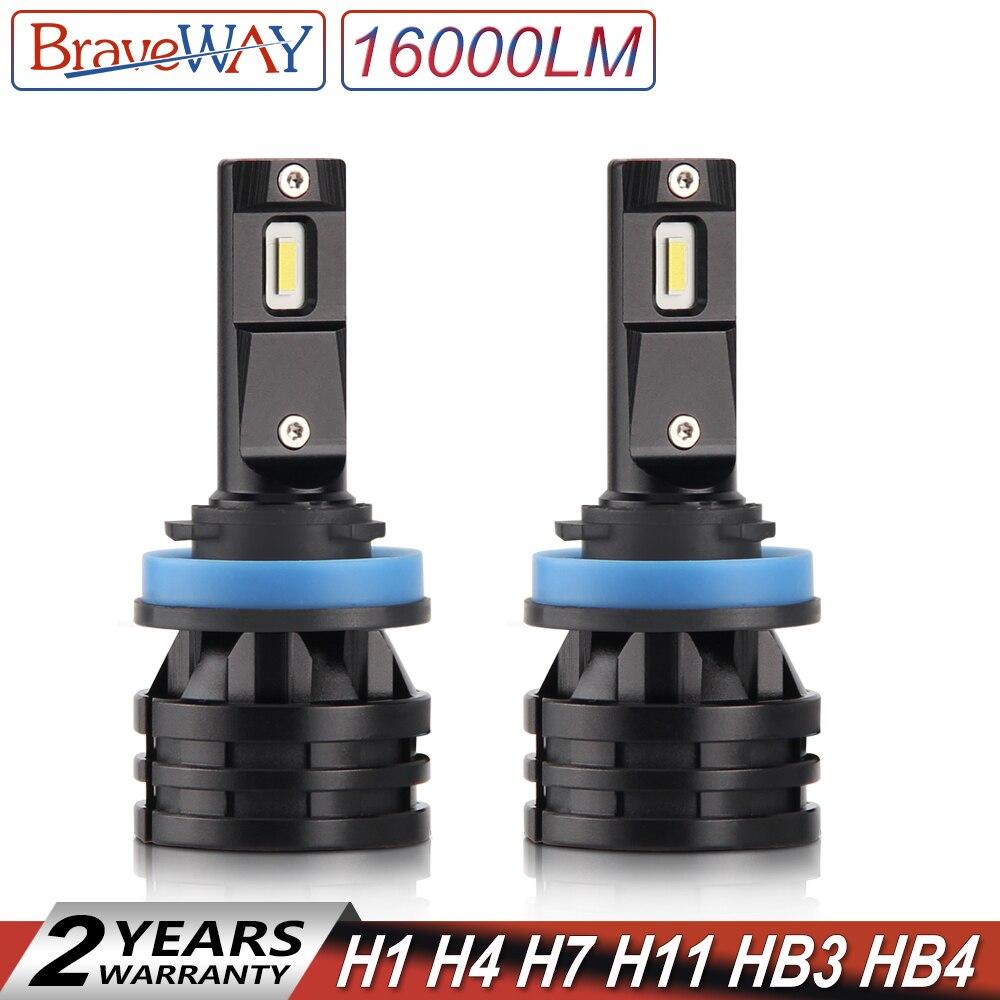 BraveWay 2019 New Arrival 16000LM H11 LED Lamp for Cars H1 H4 H7 H8 H9 HB3 HB4 9005 9006 Turbo LED Bulbs for Auto Lights 12V 24VBraveWay 2019 New Arrival 16000LM H11 LED Lamp for Cars H1 H4 H7 H8 H9 HB3 HB4 9005 9006 Turbo LED Bulbs for Auto Lights 12V 24V