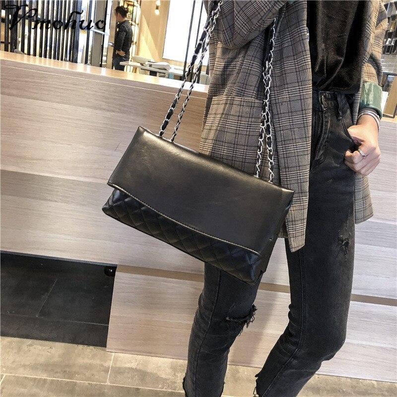Borsa Crossbody black Tracolla Bolsa Vmohuo Sacchetto Vintage Della Sac Bag red Le Pelle Modo In Per Borse Khaki Femminile Catena A Di Donne Spalla Delle ZYqgrYTWn
