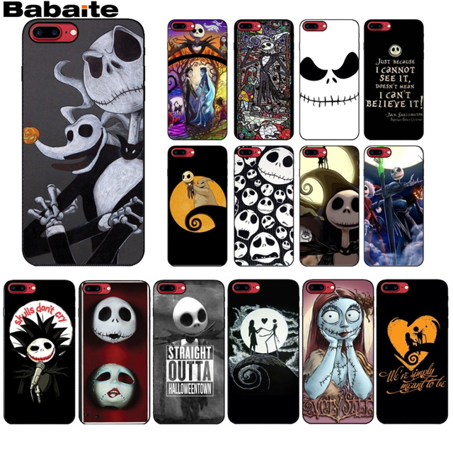 save off 88672 227f7 US $0.57 59% OFF|Jack Skellington The Nightmare Before Christmas Shell  Phone Case cover for iPhone X XS MAX 6 6s 7 7plus 8 8Plus 5 5S SE XR-in ...