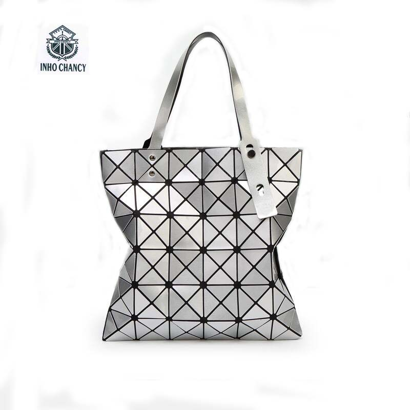 INHO CHANCY 2017 Most Popular BAO BAO Women Bag Shoulder Women's Handbag Folded Geometric Plaid Bag Mochila Bao Bao dvodvo women handbag baobao bag female folded geometric plaid bag bao bao fashion casual tote women handbag mochila shoulder bag