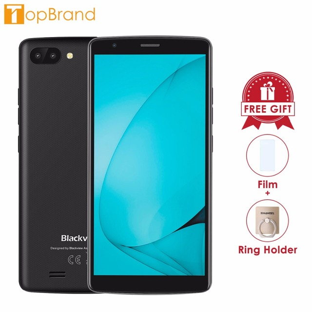 """NEW BLACKVIEW A20 Android GO Smartphone Dual Rear Camera MTK6580M Quad core 1GB RAM 8GB 5.5""""18:9 Cellphone 3000mAh GPS 3G Mobile"""