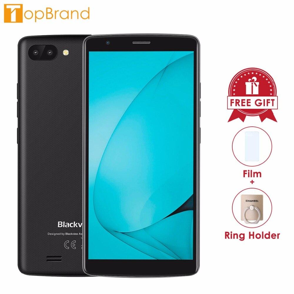 Nuevo BLACKVIEW A20 Android GO Smartphone cámara trasera Dual MTK6580M Quad core 1 GB RAM 8 GB 5,5