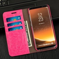 Musubo Luxury Women Leather Case For Samsung S8 Plus S7 Edge Lady Girls Wallet Phone Bag