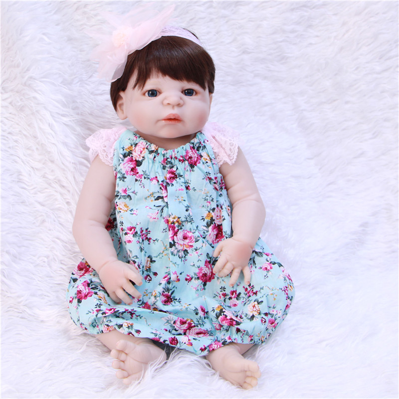 Bebe 55cm Full Body Silicone Reborn Baby real dolls Toys lovely girl Doll Child Birthday Gift  bonecas Brinquedos e32 kit cheetah germany cat fiber glass electric racing speed boat hull with shaft propeller for advanced player black