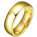 Горячая Продажа в Бразилии 6 ММ Позолоченные Tungsten Карбида Обручальные Полосы Кольца Мужчины Союза женщин Ювелирные Изделия TU025R
