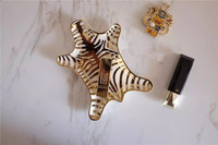 Export European pop jewelry ring collection plate home for lovely modelling and design golden Tiger stripes candy tray