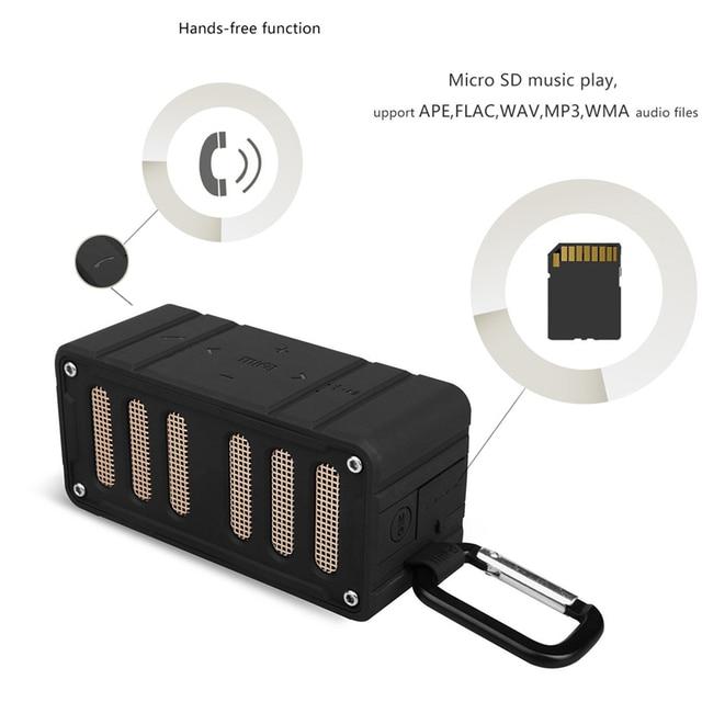 Bluetooth Speaker Outdoor Wireless Speaker Waterproof IPX4 Compatible Stereo Soundbar TF for Iphone6/6S,Ipad,Samsung