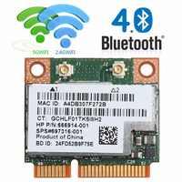 Doble banda 2,4 + 5G 300M 802.11a/b/g/n WiFi Bluetooth 4,0 inalámbrico de mitad de semestre Mini PCI-E de la tarjeta para HP BCM943228HMB SPS 718451-001