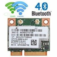 Dual Band 2,4 + 5 г 300 м 802.11a/b/g/n Wi-Fi Bluetooth 4,0 Беспроводной Половина Mini PCI-E карты для hp BCM943228HMB SPS 718451-001