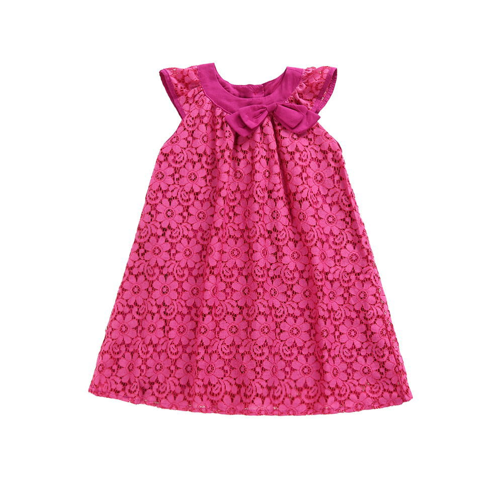 girls dress 2019 new European and American summer children 39 s empty lace cotton vest dress 2 3 4 5 6 7 years baby girl clothes in Dresses from Mother amp Kids