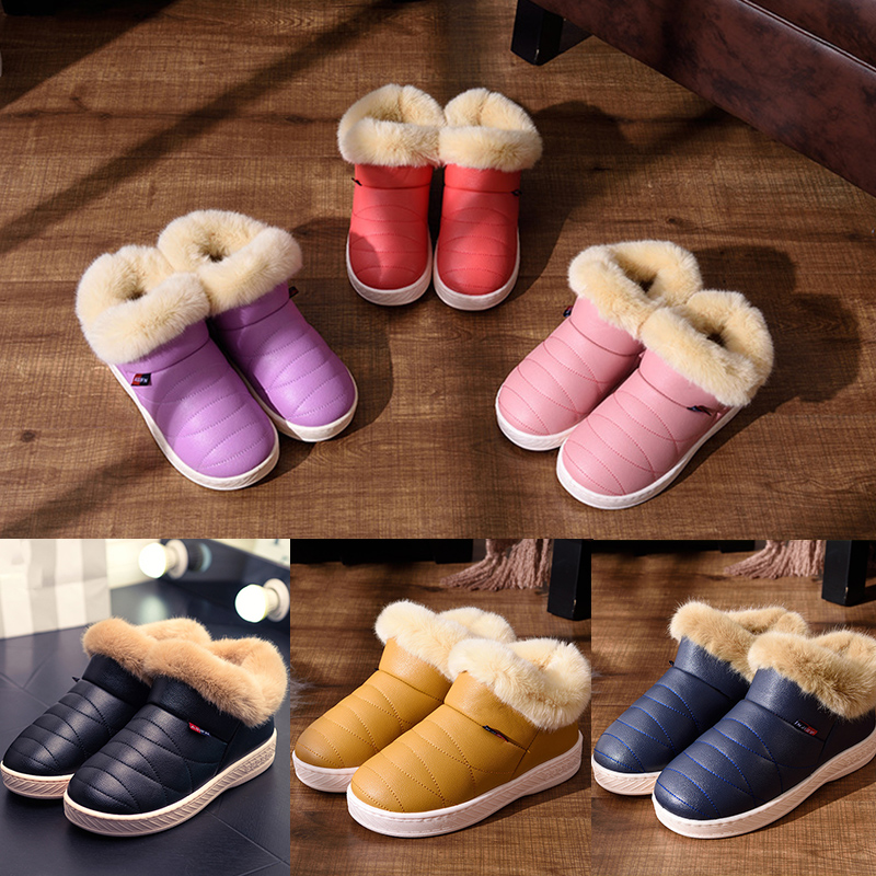 Women Snow Boots Winter Warm Fur Ankle Boots Couple Thick Sole Cotton Shoes Woman Flats Waterproof Anti-skid Boot botas FW236 women snow boots winter warm fur ankle boots couple thick soled cotton shoes woman flats waterproof slip on botas mujer zapatos