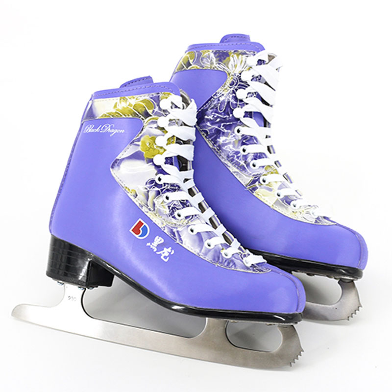 Japy Skate Figure Skates Flower Voice Ice Skate Tricks Shoes Adult Child Ice Skates Professional Flower Knife Real Ice Patines szblaze 6061 aluminum alloy tube clap long track ice speedskating blades frames 60hrc dislocation skate shoes knife 1 1mm frame
