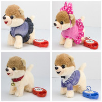 1Song Electric Walking dog Plush Toy Stuffed Animal Toy Electronic Music dog Leash Control Toy For Children Christmas Gifts