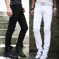 New Men Pants fashion Casual Pants Slim Fit Trousers straight pants black white Size M L XL XXL
