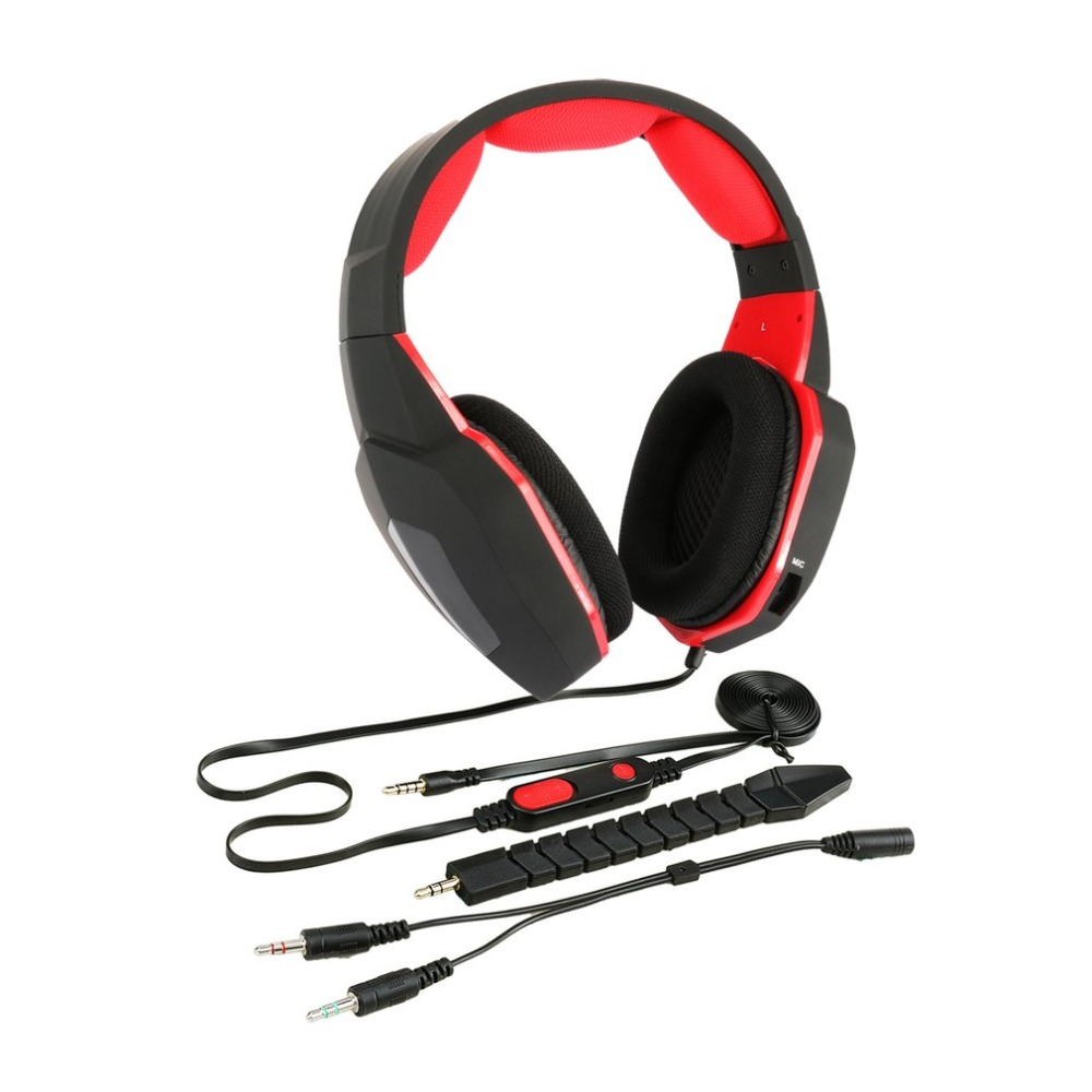 Professional High Sensitivity Stereo Bass Gaming Headphone Detachable Wired Gamer Headset for XBOX ONE for PS4 gorsun gs a552 wired dynamic stereo bass headset headphone black red