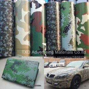 Image 5 - Buona qualità Auto Diverse Per Lo Styling Grande Digital Woodland Green Camo Camouflage Pellicola Del Vinile Wrap Sticker Desert Camouflage pellicola