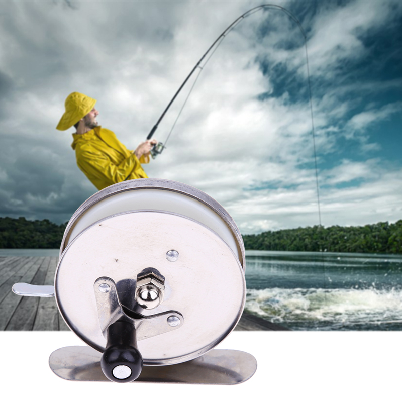 5.5cm Dia. Mini Metal Ice Fishing Pole Line Reel Rods Fishing Line Wheel Shrimp Light Bait Casting Fishing Reels
