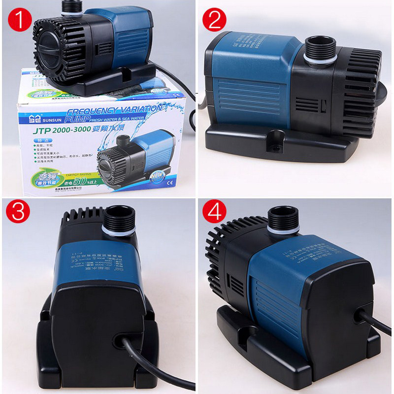 Aquarium Water Pump 220V Aquarium Pump Aquarium Fishing Variable Frequency Submersible Pump Fountain Pump Aquarium Filter (7)