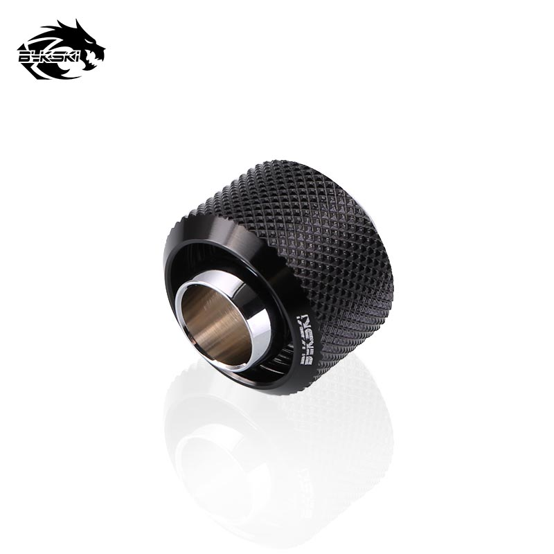 Bykski Use for Inside Diameter 9.5mm + Outside Diameter 12.7 Pipes 3/8ID X 1/2OD Tubing Hand Compression Connector Fitting barrow white black silver g1 4 3 8id x 1 2od 9 5 x 12 7mm tubing hand compression fittings water cooling fitting thkn 3 8 b03