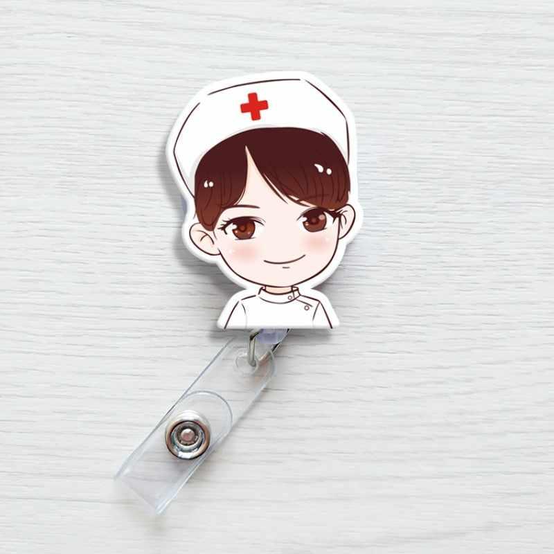 Cartoon Retractable Pull Badge Reel ID Lanyard Name Tag Card Badge Holder Reels Doctor Nurse Supplies Nurse Badge Holder
