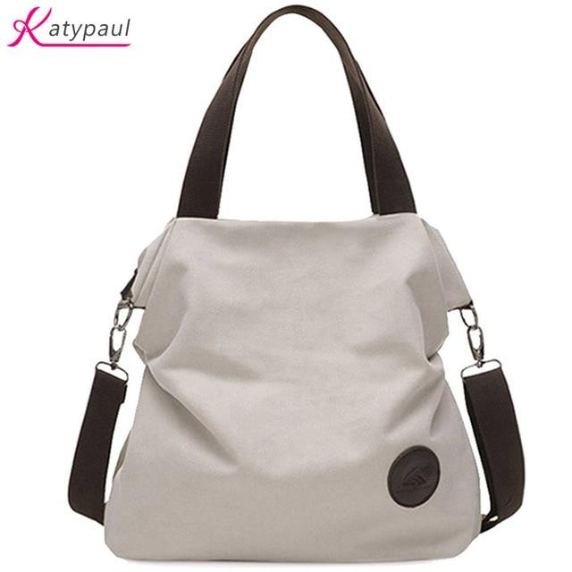 2017 Casual Beach Woman Canvas Bags Women Shoulder Bag Female Handbags Crossbody For White
