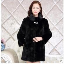 Size S-7XL  2016 Winter  Fur Coat Female Outerwear Mink Faux Rabbit Fur Long Design Women's New Overcoat Thicken Warm