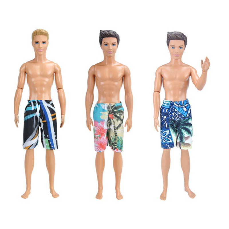 Ken The Boyfriend Swimming Pants Outfits For Barbie Doll Clothes Accessories Play House Dressing Up Costume Kids Toys
