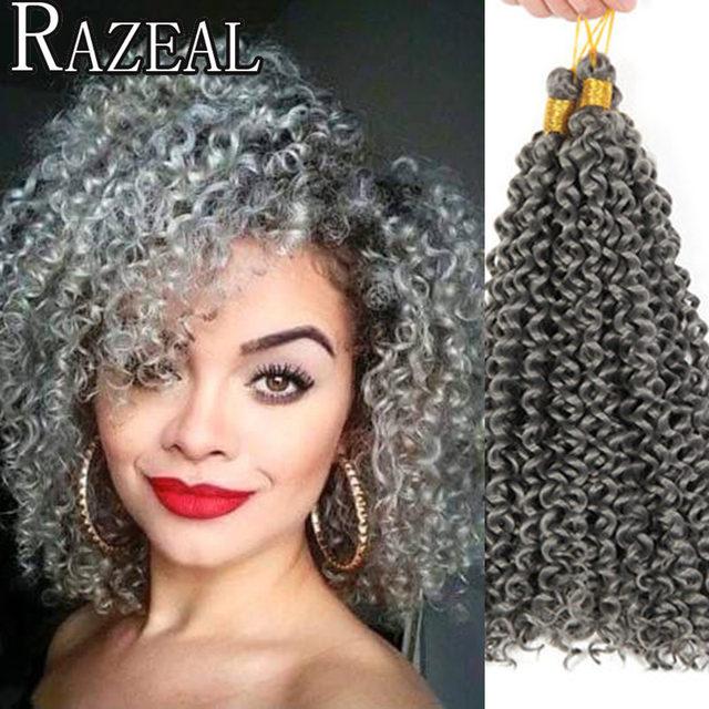 Razeal Freetress Crochet Braiding Hair 14Inch Curly Hair