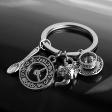 Fashion Movie Jewelry Alice in Wonderland Key Holder Alice Keychain Retro Teapot