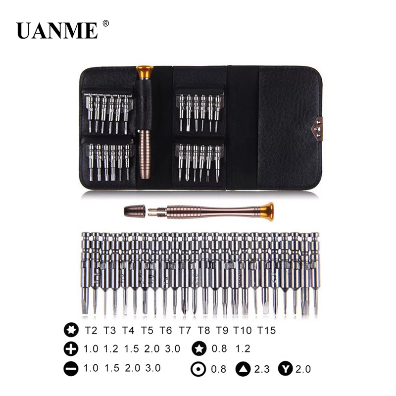 UANME 25 in 1 Precision Screwdriver Set Repair Tools Kit for iPhone 5s 6s Plus 7 8 X for Nintendo Switch NS MacBook Laptop PC