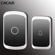 CACAZI Wireless Doorbell Waterproof AC 110-220V Wifi Digital Battery Button 36 M