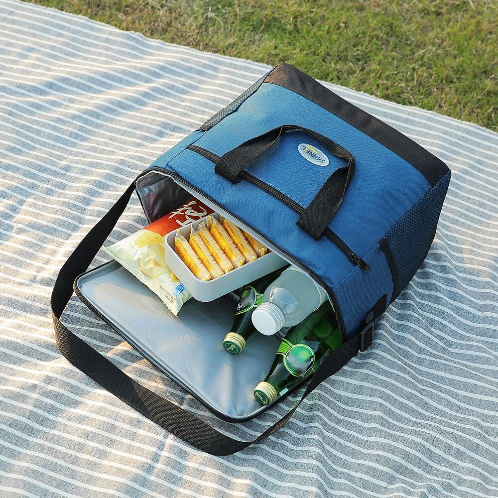 Image 4 - Lixada 16L bolsa aislante para exteriores, bolsa de almuerzo, bolsa térmica Bento, Camping al aire libre, barbacoa, Picnic, frescura alimentaria, refrigerador de alimentosBolsas de picnic   -