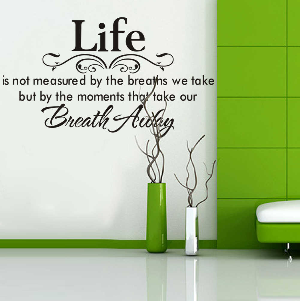 Life art rumors Living Room bedroom 3D Vinyl Wall Decal Wall Lettering Art Words Flower vine Wall Sticker Home Decor Decoration