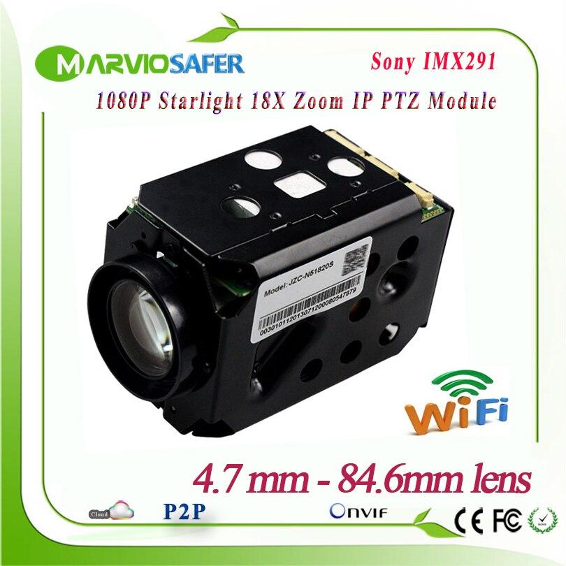 2MP FULL HD 1080 P IP Wifi PTZ Caméra Réseau Module CCTV Starlight Coloré Nuit Vision Sony IMX291 18X Zoom Optique RS485