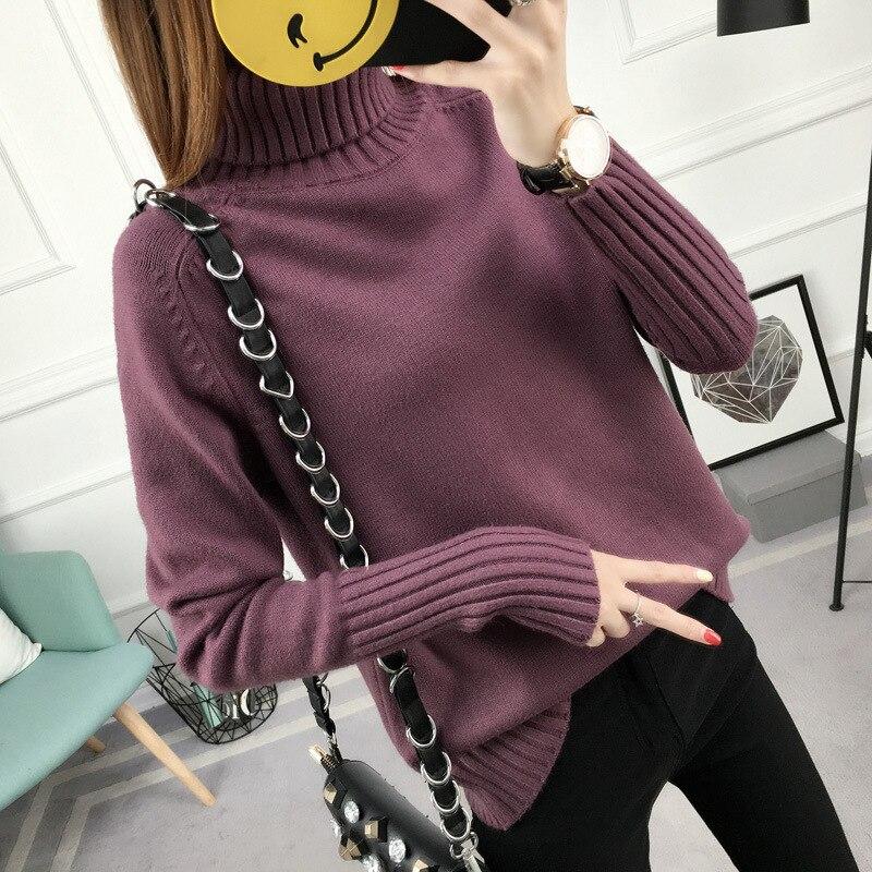 female woman top ladies xxl pullover  fall 2019 fashion korean women turtleneck sweaters